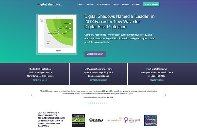 Digital Shadows Fintech startup