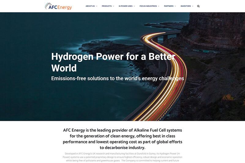 Hydrogen power company - AFC Energy